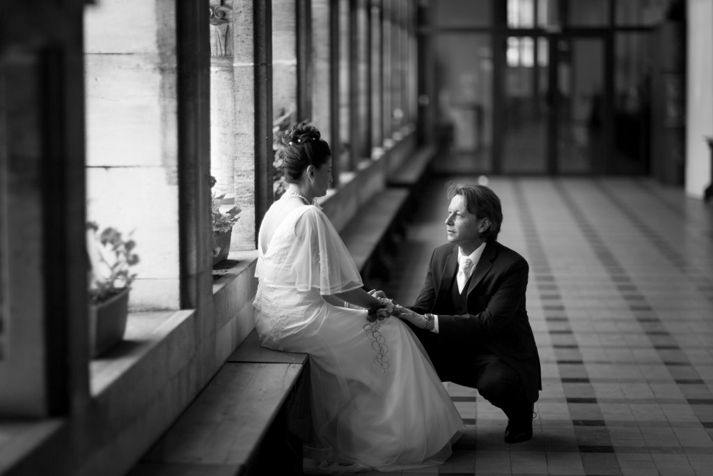 MAriage reims photographie noir et blanc
