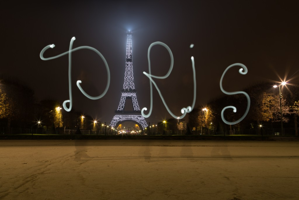 Paris light painting session