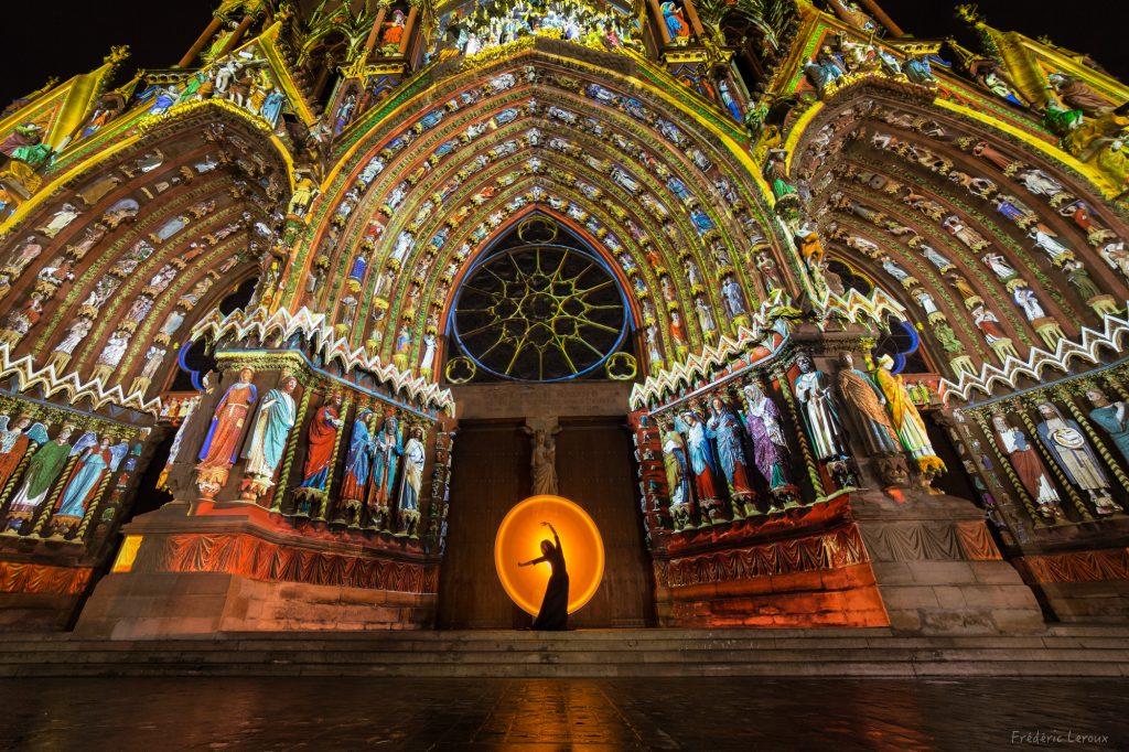 Cathédrale photo reims nuit