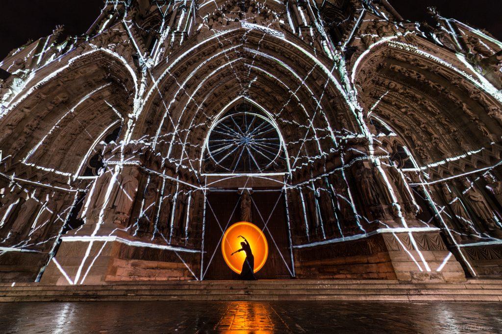 Cathédrale de Reims photos de nuit