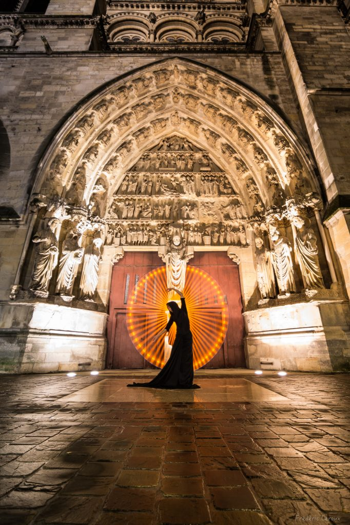 light art à notre de Dame de reims