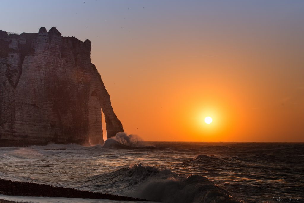 sunset étretat